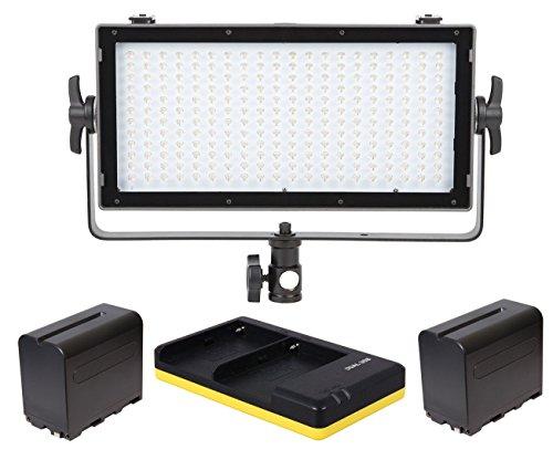 VIBESTA Capra20B Bi-Color LED Leuchte 2x NP-F960 Charger Netzteil Lichtstativ