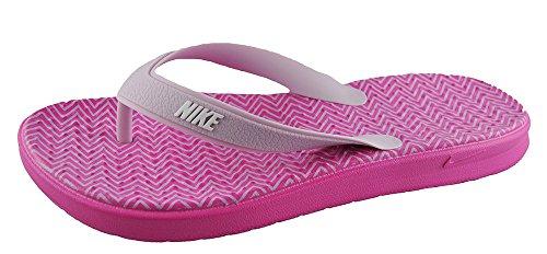 Nike Damen WMNS SOLAY Thong Print Flache Hausschuhe, Pink (Pinkfire Ii/iced Lilac/White), 36.5 EU