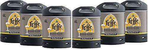 Pack 5 fûts 6L de Leffe blonde + 1 Offert - 30 euros de consigne inclus