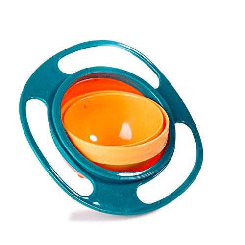 Pegcdu Universal-Gyro Bowl Glatte 360 Grad Anti Spill Gyroscopic Schüssel für Baby-Kinder