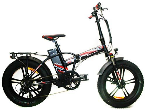 Reset Fat-Bike Bicicletta Elettrica Pieghevole a Pedalata Assistita 20' 500W Redwood Nero e Rosso
