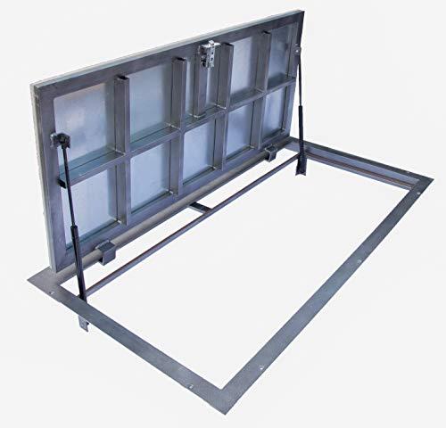Trampilla de suelo 600 mm x 1200 mm(P) – Bisagras laterales, para...