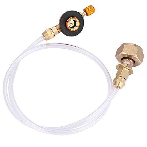 V GEBY Convertitore per Serbatoio di Gas Adattatore per fornello da Campeggio con Testa e Tubo per riscaldatore Portatile