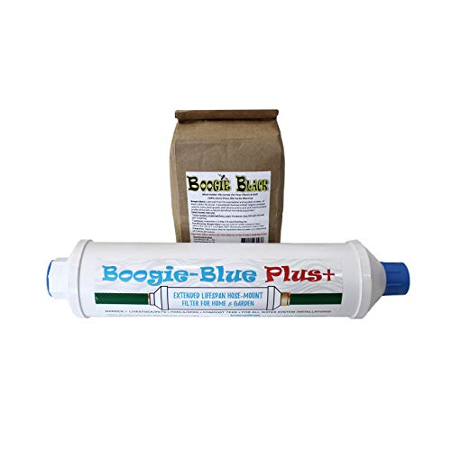 New 2018 Design - Boogie Blue PLUS High Capacity Water Filter for garden, RV and outdoor use...