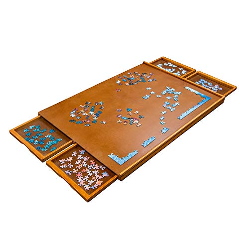 Jumbl Wooden Jigsaw Puzzle Table Board w/ 4 Storage & Sorting Drawers Now $47.99 (Was $79.99)