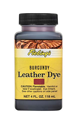 Fiebing's Leather Dye - Alcohol Based Permanent Leather Dye - 4 oz - Burgundy