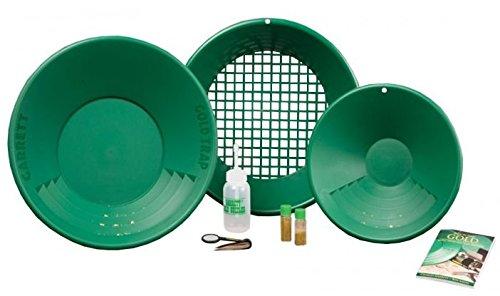 Kit Gold Pan Garrett Ricerca Oro Batea Bottiglia Metal Detector Metaldetector