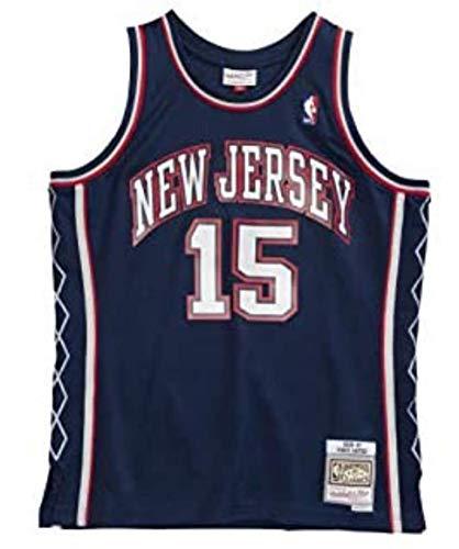 Mitchell & Ness - Maglia NBA Vince Carter New Jersey Nets 2006-07 Hardwood Classics, colore: Blu marino
