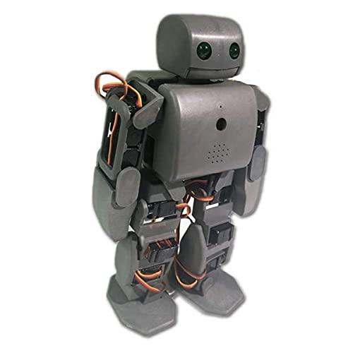 Kit De Robot Humanoide Multifunción PLEN2 para Impresora Arduino 3D Open Source Plen 2 para Control WiFi DIY Robot Modelo De Enseñanza De Graduación De Juguete, Gris