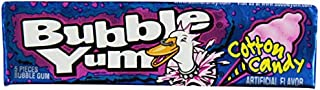 Bubble Yum Cotton Candy Bubble Gum - Soft and Easy to Chew, Long-Lasting Original Flavor - 5 Pieces, Pack of 18