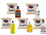 Caffè Vulcanus - Kit degustación 50 monodosis de café aromatizado ESE44 - Degustación de café con whisky, sambuca, anis, amaretto, limoncello