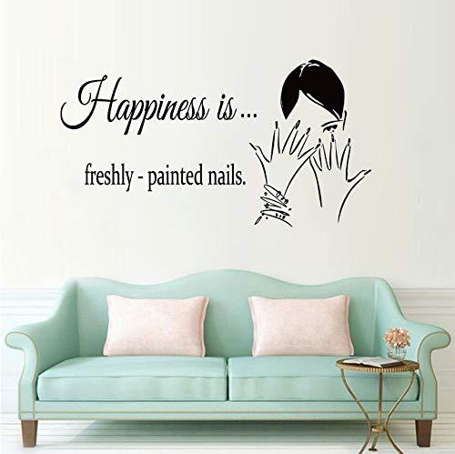 Cczxfcc Nagellak voor nagels, reliëf, sticker voor ramen, wand, schoonheidssalon, afneembaar, Nail Art Design, poster voor wandramen, 78 x 42 cm
