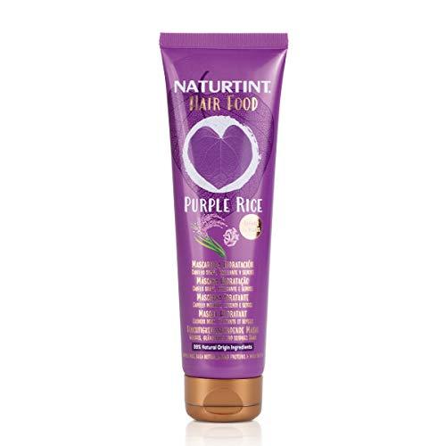 Naturtint Hair Food Pulple Rice Mask | Mascarilla Pelo Hidratación. Cabellos Suave, Brillante y Sedoso. 99% Ingredientes Naturales. 150ml
