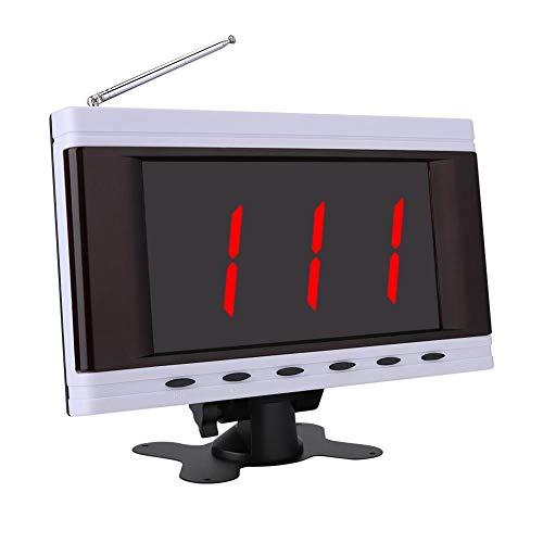 Topiky 3-cijferige HD-beeldschermweergave voor digitaal telefoonsysteem, wachttijd voor restaurantklanten, 0,5-1,5 km Compatibel met elke beller, ondersteuning voor 999 Pager + 15 bellen, service voor café, kast, EU.