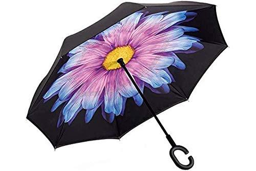 Ombrello inverso reversibile fantasia auto apertura al contrario pioggia - Tipo 1 PZ
