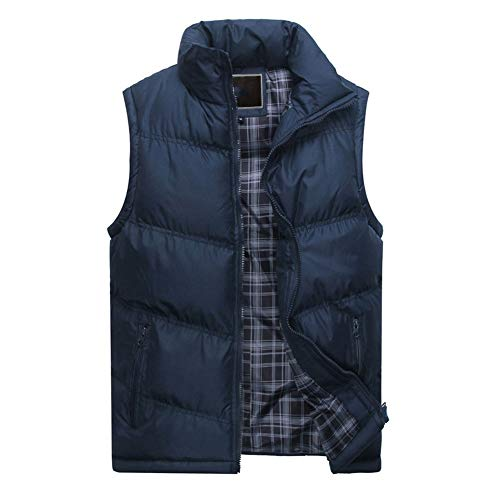CHIYEEE Heren Winter Gilet Warm Mouwloos Jas Down Katoen Jas Vest Top M-4XL