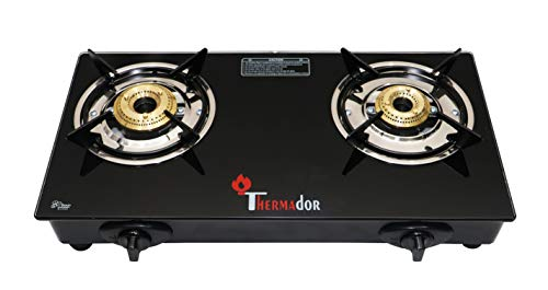 Thermador Toughened Glass Top 2 Burner Gas Stove (LPG, Auto Ignition)