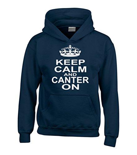 Edward Sinclair Keep Calm and Canter diseño de Pesadilla Antes de ' Carcasa y Montar a Caballo Sudadera con Capucha