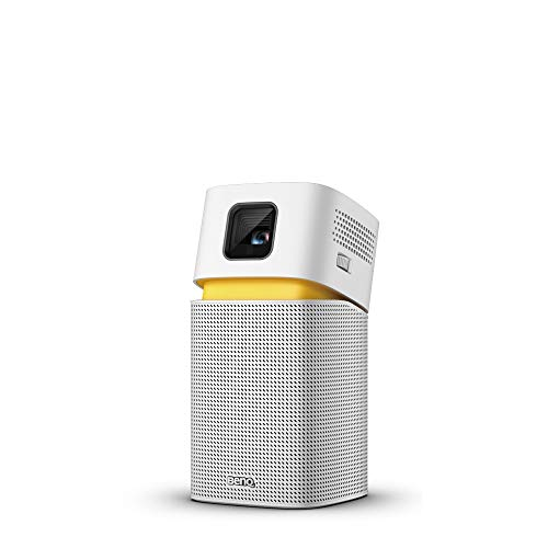 "BenQ GV1 Smart, Stylish, Portable LED Projector | DLP | in-Built Battery | Wi-Fi | Hotspot | Wireless Display | Bluetooth Speaker | Unique Tilt Hinge | Auto Key Stone | 100"" Projection Image 