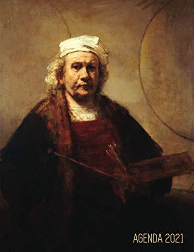 Rembrandt Planificador Diaria 2021: Autorretrato con Paleta y Pinceles | Agenda 2021:...