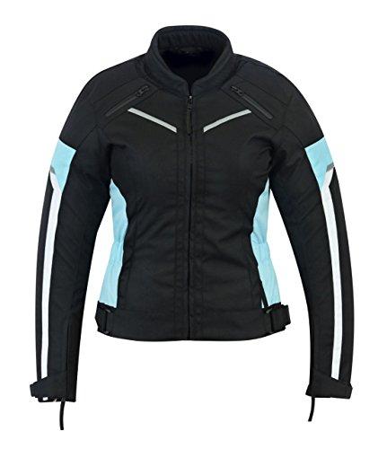 Chaqueta impermeable de alta protección para mujer, color negro/azul, modelo...