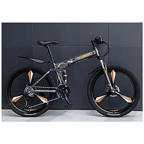 ROYWY Bicicleta Plegable para Adultos, Bicicleta De MontañA para Senderos, Bicicleta De MontañA Plegable Bicicleta De MontañA De Velocidad Variable para Hombres para Trabajar En Carreras/A /