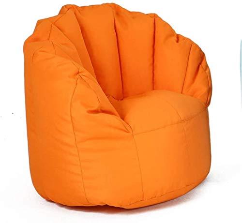 LHY- Lazy Sofa Chambre Petit Sac Mignon Bean, Tatami Simple Ventilateur Canapé Amovible et Lavable Doux (Color : Orange, Size : 90cmx80cm)