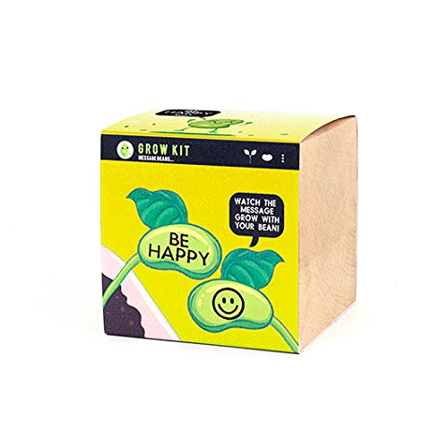 Gift Republic Grow Your Own Message Beans Kit - Different Designs (Be Happy)