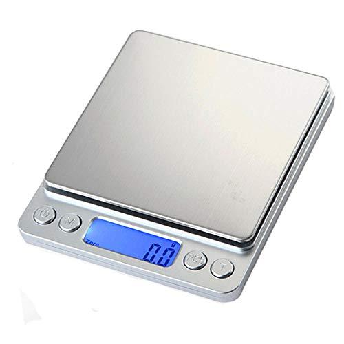 200g / 0.01g mini gramo de precisión digital cocina electrónica balanza de peso alimenticio joyería de bolsillo pesca portátil steelyard 3000g 0,1g