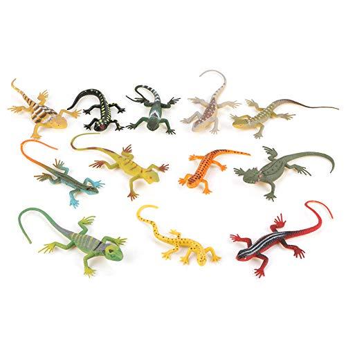 Garosa Eidechse Spielzeug Realistisch Tier Figur Pädagogisches Spielzeug Geshenke für Kinder 12Pcs/Set