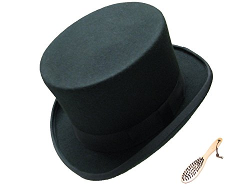 VIZ-UK WEAR Chapeau Haut de Gamme 100% Laine avec Brosse à Vaisselle Noir - Noir - Large