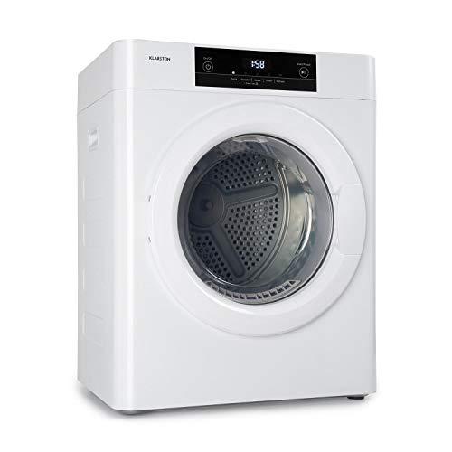 Klarstein Ultradry - Secadora, Carga frontal, Potencia de 1250 W, Protección IPX4, Capacidad de lavado 3 kg, Seguro para niños, 5 programas, Temporizador 10 a 120 min, Altura ajustable, LED, Blanco