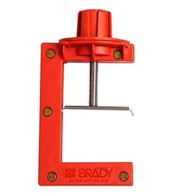 Brady 121505 Large Red, Butterfly Valve Lockout - Large (1 Each) by Brady