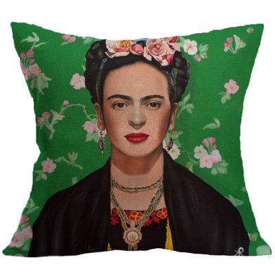 LK.88711pcs Suave de Pintura al óleo Mode Lino Almohada para sofá Decorar (sin Cojín Pegar) Mujer Verdes Fondo