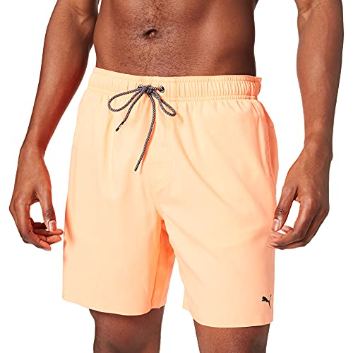 PUMA Herren Men Medium Length Swim Board Shorts, Orange, M