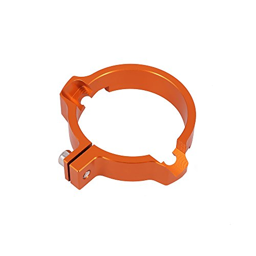 72 mm 2,83 pulgadas CNC tubo de escape silenciador abrazadera de adaptación brida para SX250 EXC250 EXC300 EXC 300 bicolor fuera de carretera motocicleta - naranja