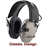 ACTFIRE Shooting Ear Protection, Electronic Ear Protection NRR 23dB Noise Reduction Sound Amplification Safety Earmuffs Ultimate Combat Shooting Muff Design Perfect for Shooting Hunting Mowing