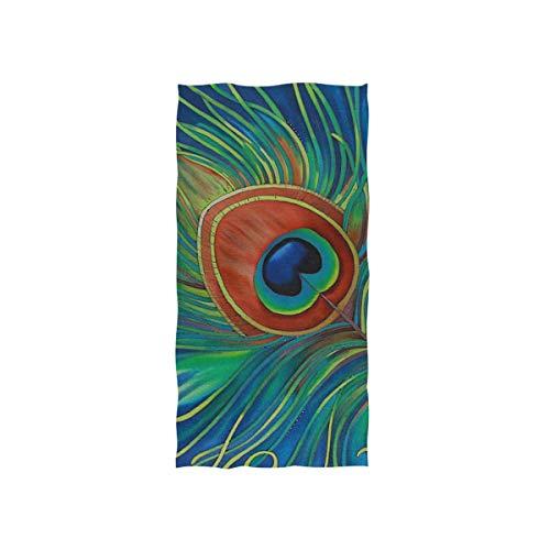 Bert-Collins Towel Toalla de Playa de Plumas de Diamante Toallas de Lujo Ultra Suaves para baño 80x130cm