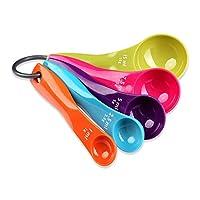 schramm® set di cucchiaio di misurazione in cinque pezzi 5 pezzi in 5 colori cucchiaio di misurazione cucchiaio di misurazione cucchiaio di misurazione in plastica cucchiaio
