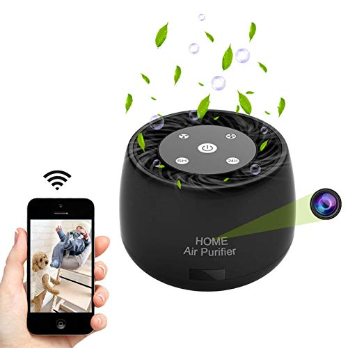 Wireless-WiFi-Hidden-Spy-Camera, QUNIAO 1080P Full HD with Night Vision and Motion Detection Alarm, Real Time Monitoring and Recording for Home/Office, Works with iOS/Android Device