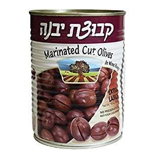 Kvuzat Yavne Marinated Cut Olives In Wine Vinegar XL, KFP 19 Oz. Pk Of 6.