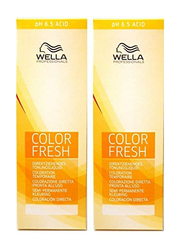 2 er Pack Wella Color Fresh Tönungsliquid 7/00 MITTELBLOND NATUR 75 ml