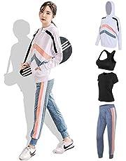 NIMIFOOL Yoga pak Yoga pak persoonlijkheid trend stiksels patroon sportschool training kleding tennis training kleding