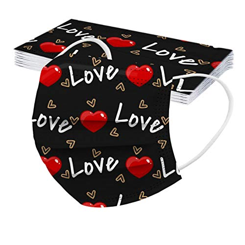 Valentine's Day Disposạble Face_Màsk for Coronàvịrụs Protectịon 3ply Fịlters Elạstic Eạrloop Face_Mask for Festival Gift