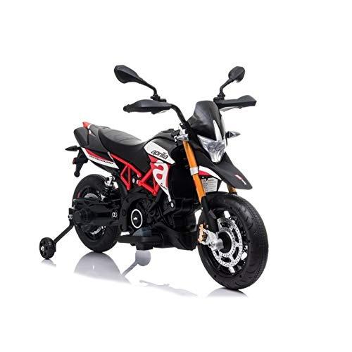 ATAA Aprilia Dorsoduro 12v Moto eléctrica Infantil Increíble Moto eléctrica para niños y niñas, con Dos Motores de 12v