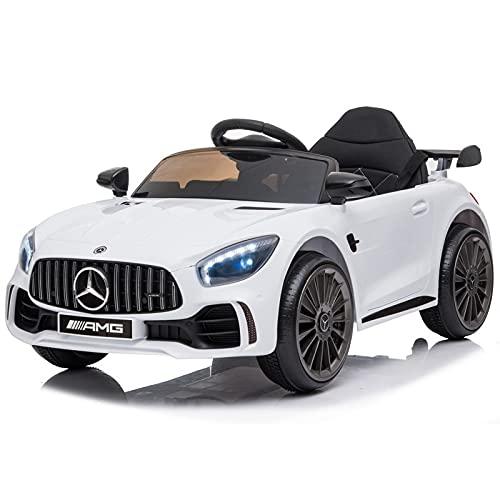 ATAA Mercedes GTR Mini - Blanco - Coche eléctrico para niños y niñas con Mando de Control Parental y batería 6v