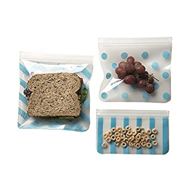 J.L. Childress See 'N Save 3 Piece Reusable Food and Snack Bag, Teal