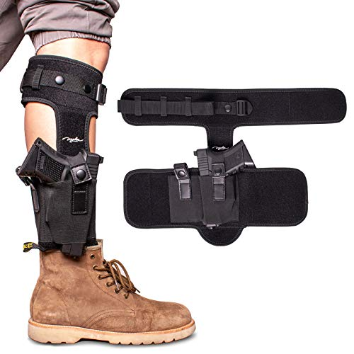 POYOLEE Ankle Holster for Concealed Carry, Leg Carry Gun Holster, Universal Pistol Holster Fits Glock 19 26 42 43, S&W M&P Shield 9mm, Bodyguard .380, Ruger LCP LC9, Sig Sauer P365 P238