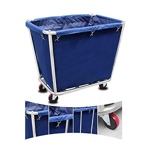 Yaeele Servierwagen Blue Hotel Rollwäsche Sorter-Speicher-Karren auf Rädern, Heavy Duty Wäsche...