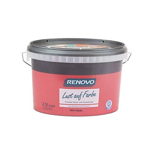 Trendfarbe Rote Traube 2,5 L Renovo Lust auf Farbe - Wandfarbe Deckenfarbe